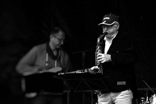 Saxophonist In Concert