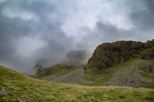 Scafell Pike Mountain In England