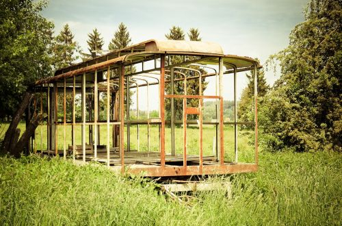 scaffold bauwagen old