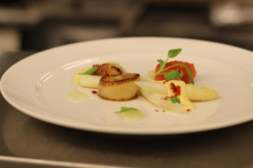 scallop food appetizer