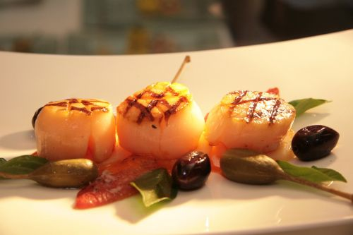 scallop plate grilled