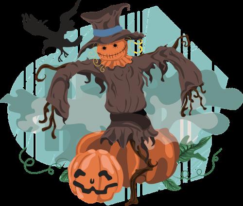 scarecrow halloween pumpkin