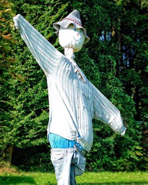 scarecrow woman of straw figure