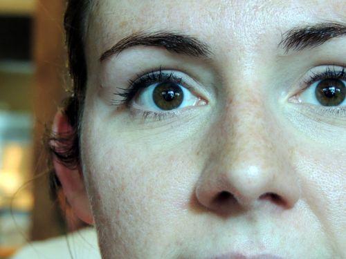 Scared Female Eyes