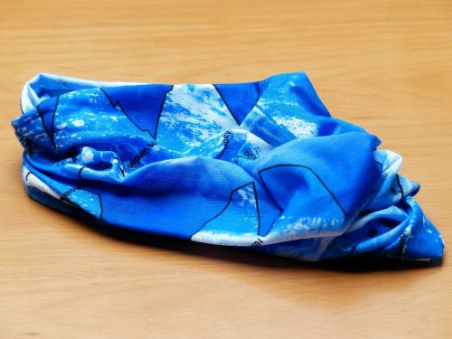 scarf blue colorful