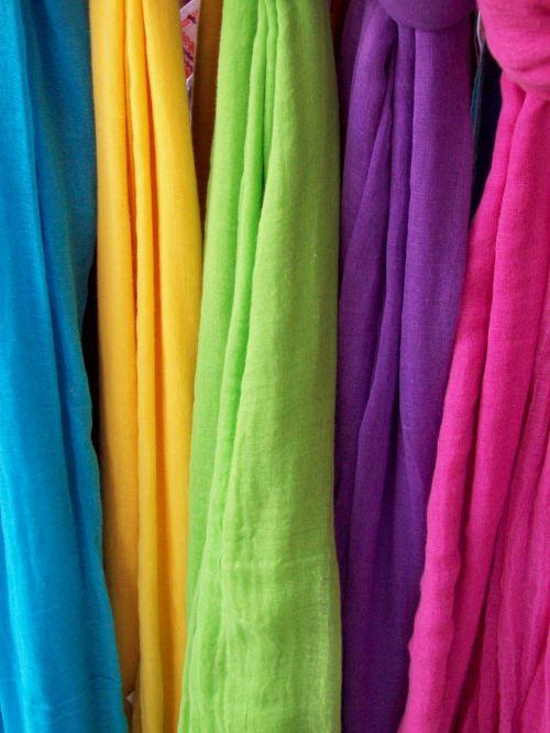 scarves colours rainbow