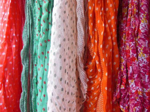 scarves polka dot floral