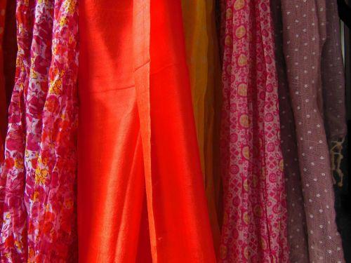 scarves polkadot floral
