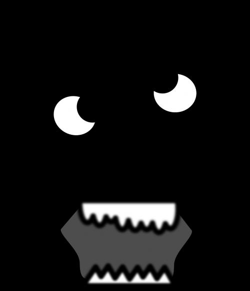 scary face head
