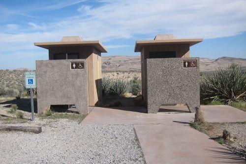 scenery outside toilets outdoors