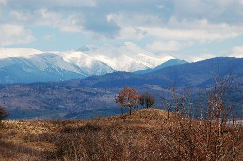 scenery mountains snow