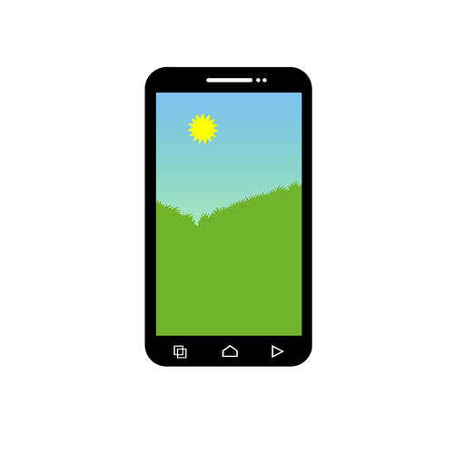 scenery  mobile phone  phone