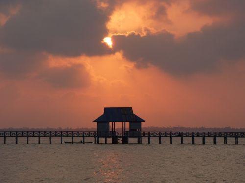 scenery cloudy sky sunset