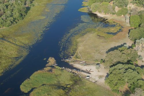 scenic flight aerial view okavango delta