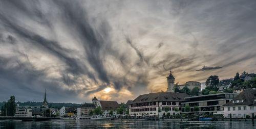 schaffhausen sunset holiday