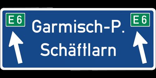 schäftlarn autobahn road sign