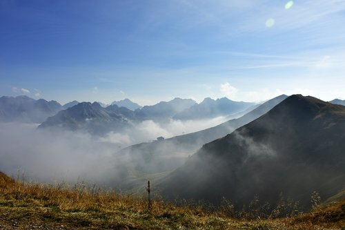 schlappolteck  mountains  fog