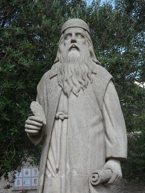 scholar hermit statue