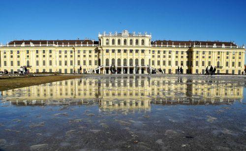 schönbrunn palace mirroring melt water