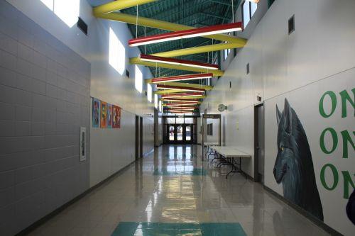 school hallway indoors