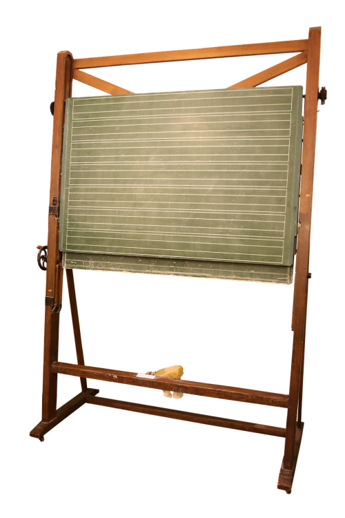 school blackboard isolated