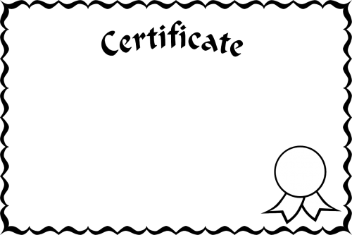 certificate certification credential