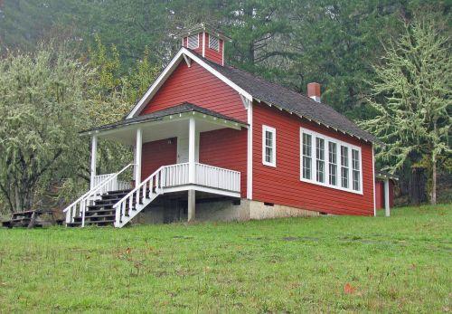school schoolhouse red