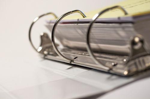 school paper binder