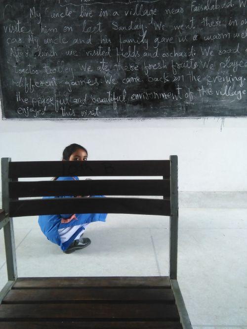 school student black board