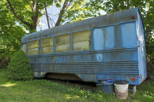 school bus derelict abandoned