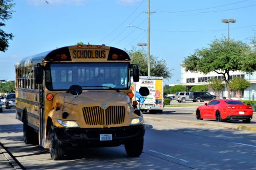 school bus houston texas street