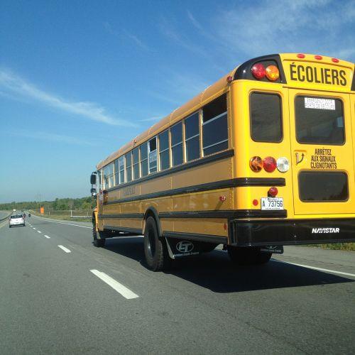 school bus canada highway