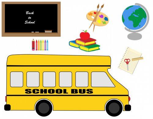 School Bus & Stationery
