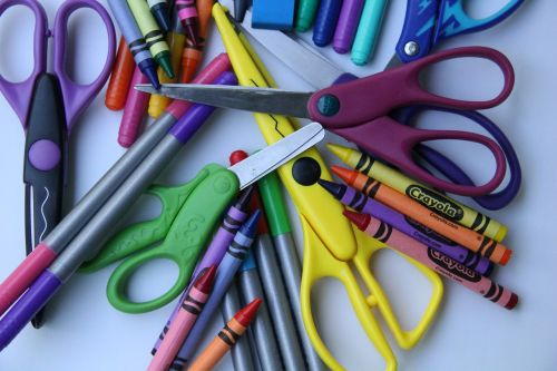school supplies back to school arts and crafts