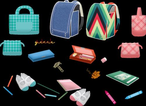 school supplies  backpack  pencils
