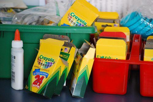 school supplies back to school crayons