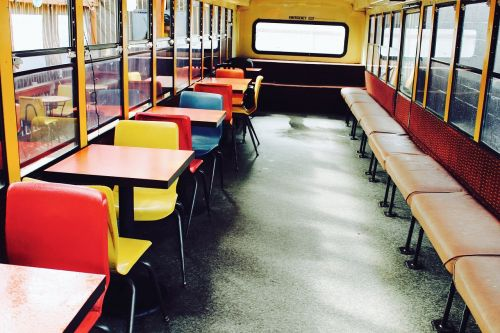 schoolbus desks tables