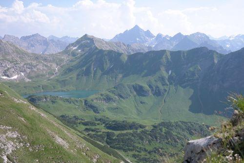 schrecksee hochgebirgssee allgäu alps