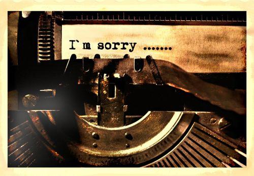 rašomąja mašinėle, laiškas, atsiprasau, senas, vintage, Raštas, tekstas, lapai, retro, raidės, rašymas, popierius, rašymas & nbsp, popierius, linija, laiškas & nbsp, tekstas, bakstelėkite, palieskite & nbsp, raidę, rašyti, nostalgija, šviesa & nbsp, šešėlis, Rašymas ant rašomosios mašinėlės