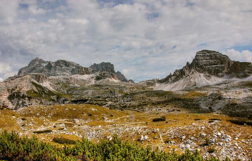 schuster plate dolomites mountains