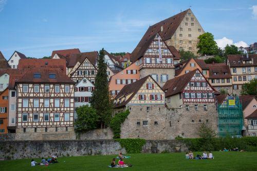 schwäbisch hall truss city view