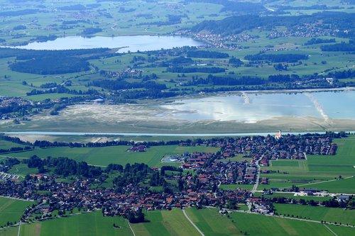 schwangau  lake forggensee  tegelberg