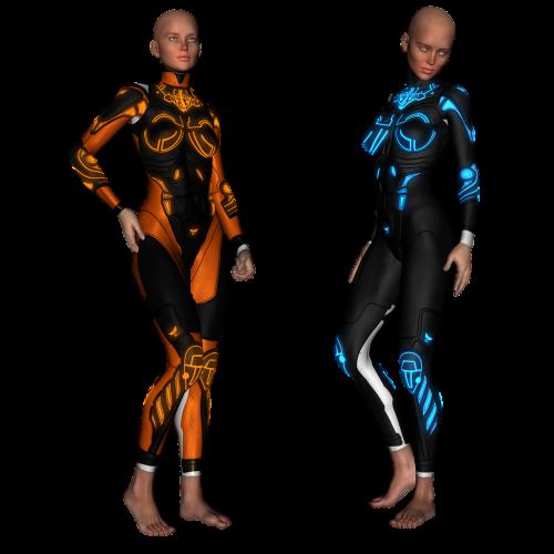 sci fi model beauty