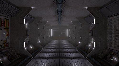 sci-fi  spaceship  futuristic