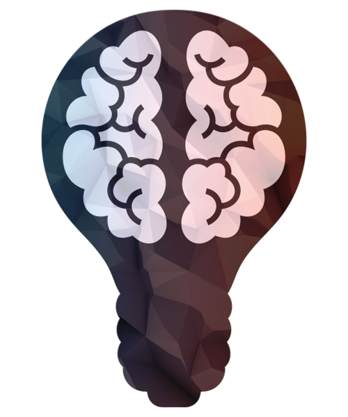 science brain bulb