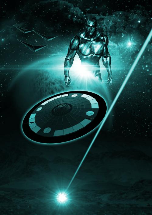 science fiction cover futuristic