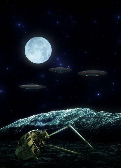 science fiction photo montage futuristic