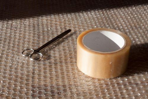 scissors tape blister foil