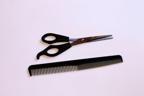 scissors comb barber beauty shop