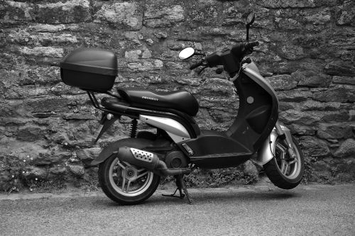 scooter two wheels transport